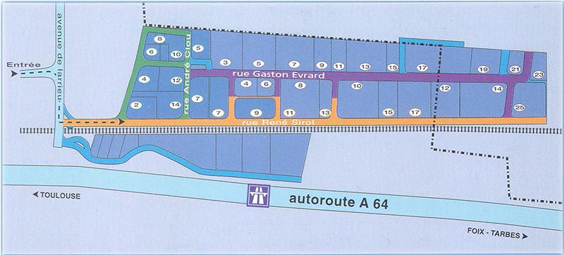 Plan du centre de Gros Larrieu
